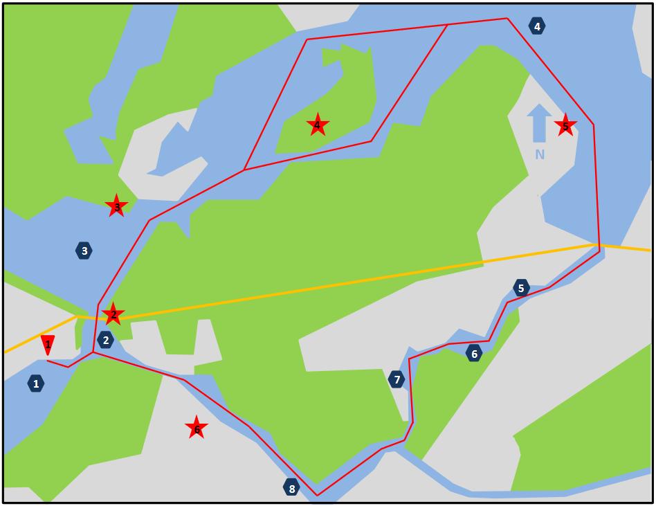 Karte Potsdam Wannseeinsel